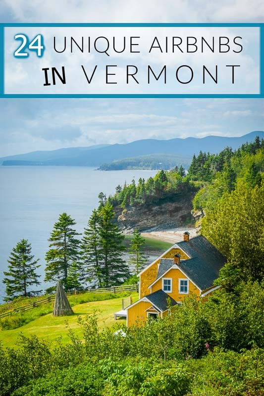 Most unique Airbnbs in Vermont pinterest pin