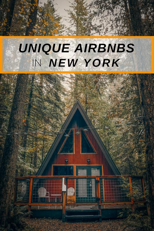 Unique Airbnbs in New York pinterest image