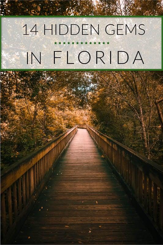 Best hidden gems in Florida to visit pinterest photo pin