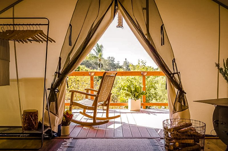This eco tent is one of the most beautiful in the state of California