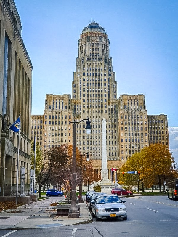 Built in 1931, the City Hall is 32-stories tall.