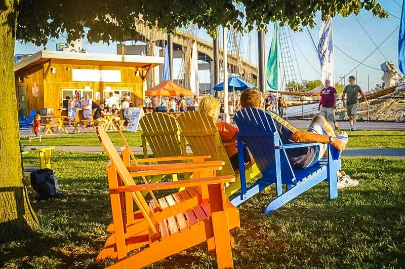 The Canalside, or Buffalo waterfront area, offers a lively alfresco scene that's great for meeting people.