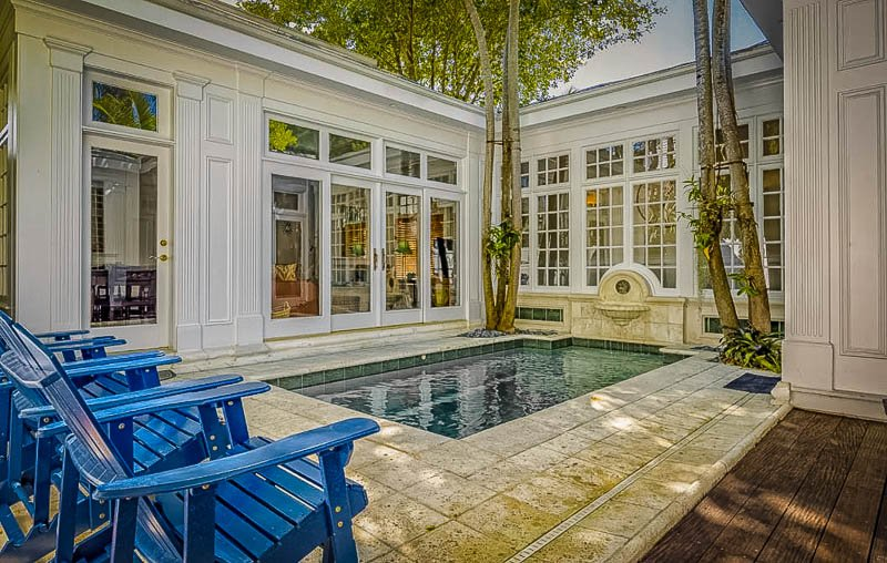 Beautiful pool area at the vacation rental