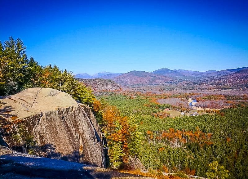 Cathedral Ledge is one of the most unique places to visit in New England, particularly in the fall with the foliage.