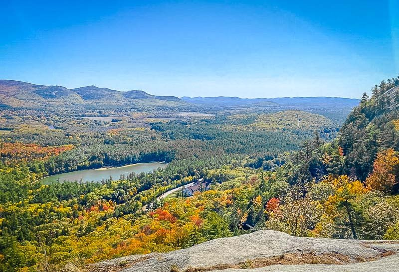 Cathedral Ledge is a hidden gem in New England, but it can get a little busier during the fall foliage season.