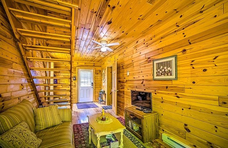 Beautiful log wood interior