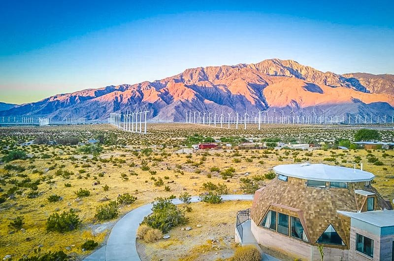 This dome house is one of the most unique Airbnb vacation rentals in Southern California.