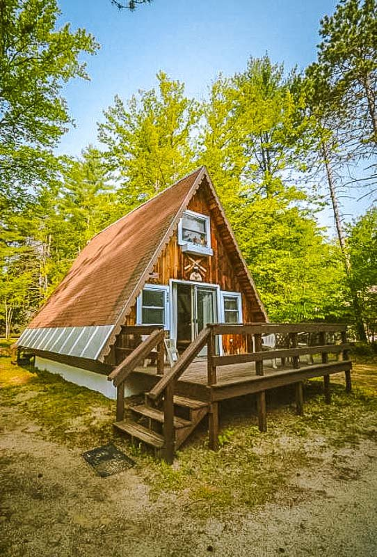 stunning a frame airbnb rental in the white mountains of new hampshire.