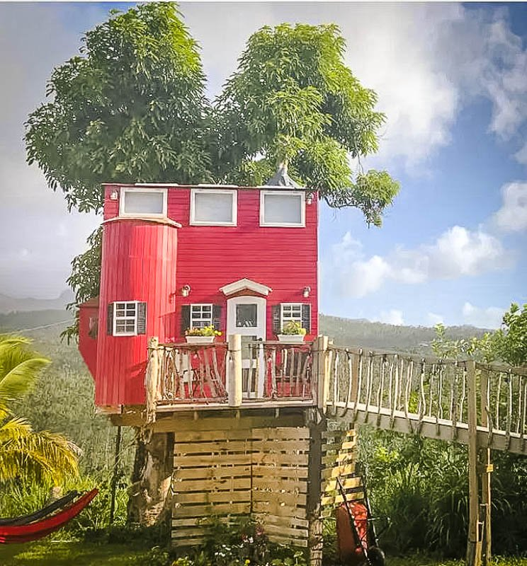 A beautiful treehouse in Puerto Rico.