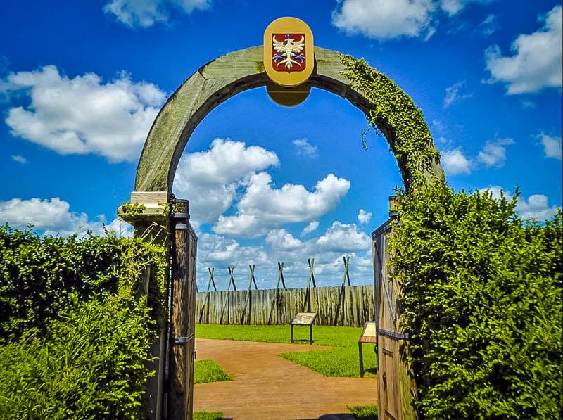 The entrance to Fort Caroline in Florida.