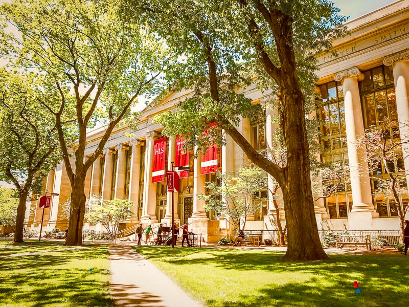Langdell Hall is home to the Harvard Law School Library, the world's largest academic law library.
