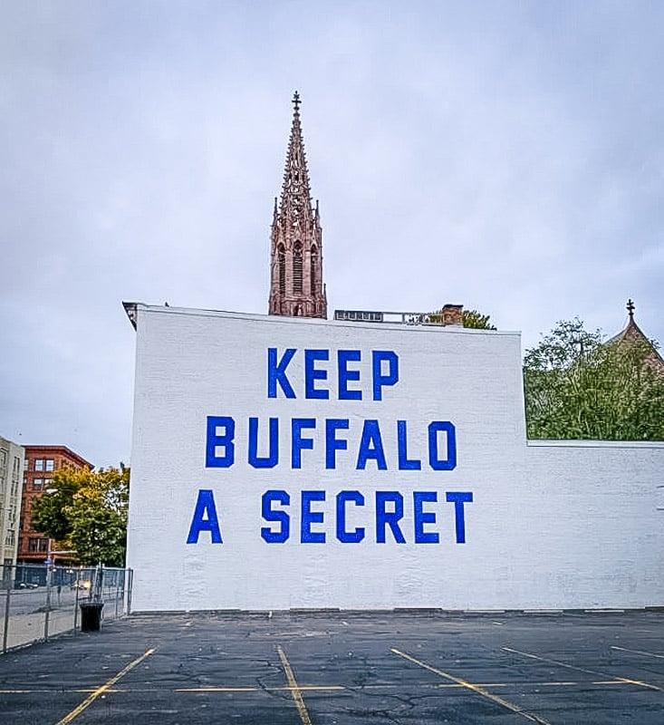 Keep Buffalo a Secret Mural in Buffalo, NY