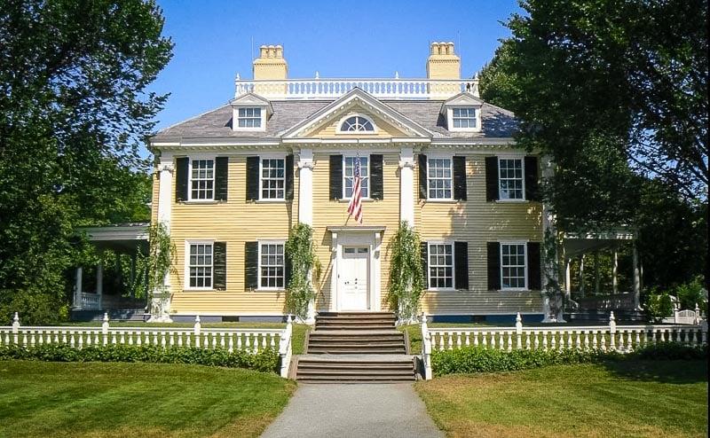 Longfellow House in Cambridge, MA.