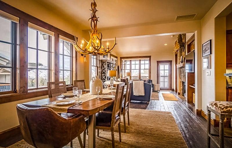 Elegant interior decor at the lodge