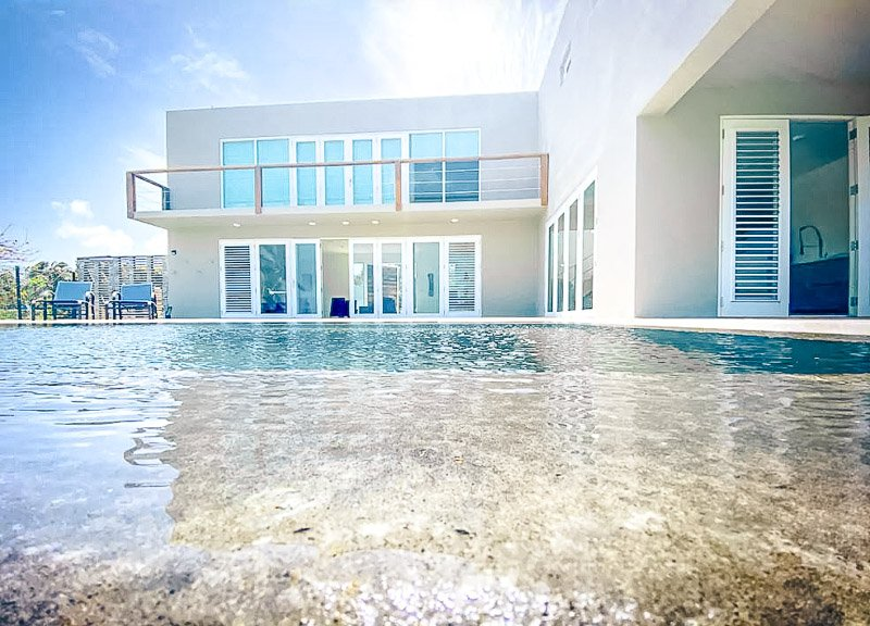 A luxury beachhouse Airbnb in Puerto Rico with stunning views.