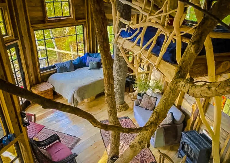 Bliss Ridge Farm Airbnb treehouse