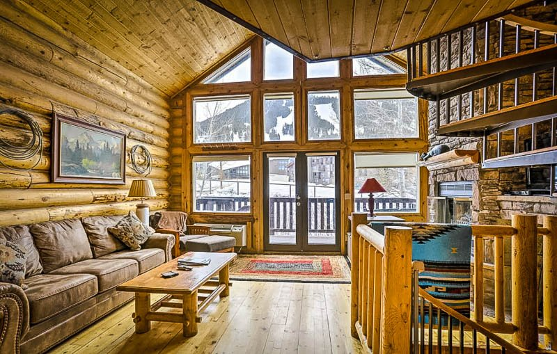 Rustic cabin in the mountains of Wyoming