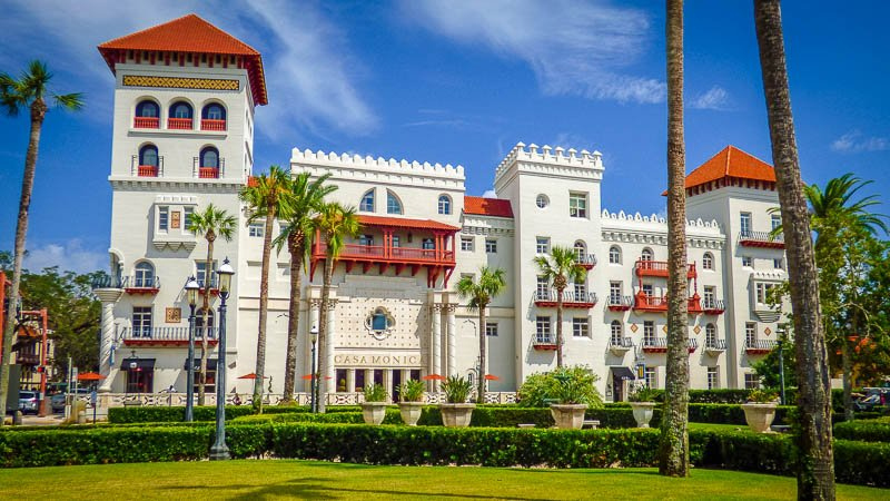 The Casa Monica Resort & Spa in St. Augustine, Florida. This sight is one of the coolest hidden gems in Florida