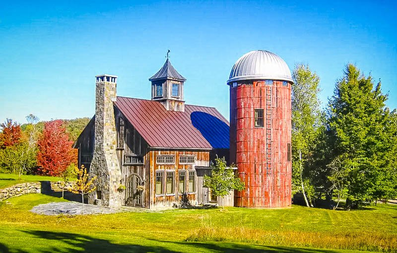 Barn and silo in Vermont