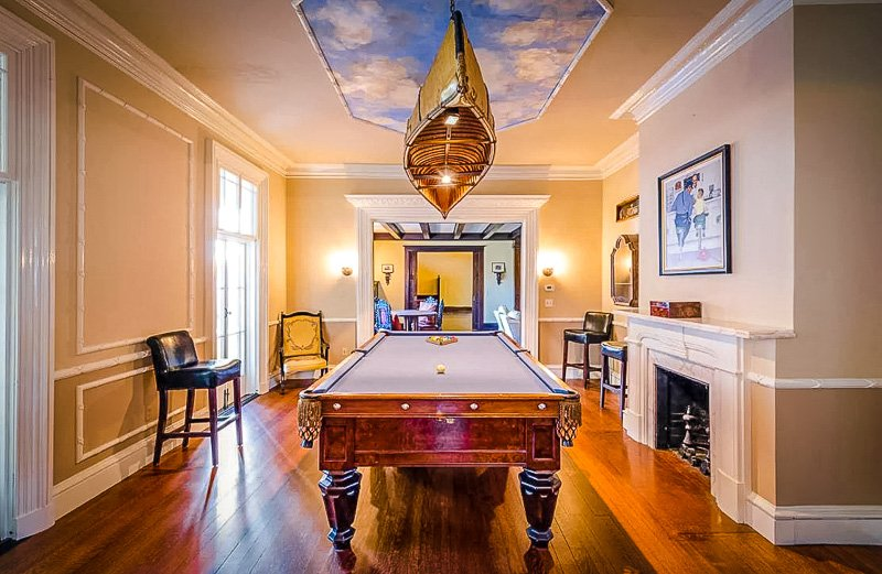 Billiards Room inside the Taggart House
