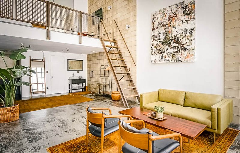 A beautifully designed loft in the city.