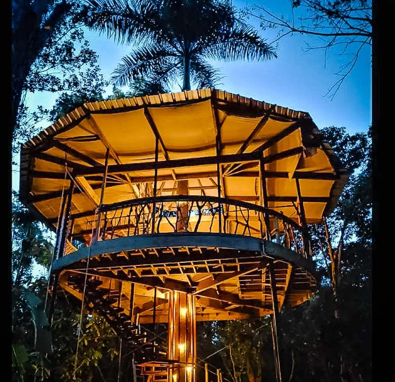 One of the most unique treehouse Airbnbs in Puerto Rico.