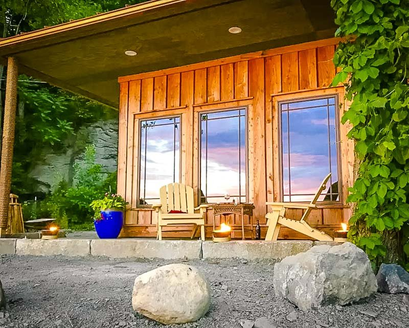 A beautiful bungalow Airbnb in the Finger Lakes region of New York