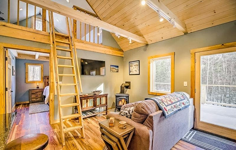 Spacious interior living space inside this Vermont vacation rental.