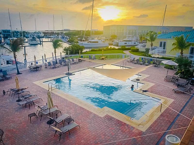Beautiful pool area on the Florida Keys