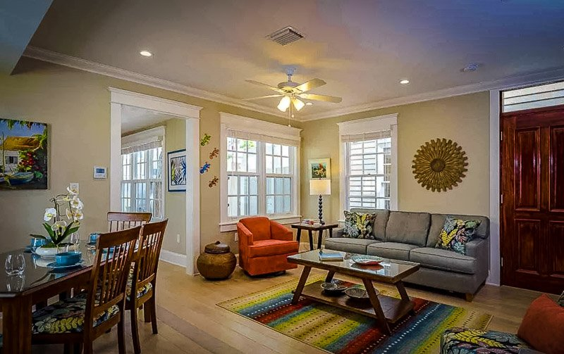Interior layout at Zesty Lime Airbnb rental