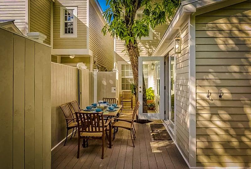 Outdoor patio in Key West vacation rental