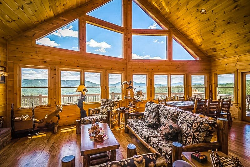 Stunning mountain views from the living room