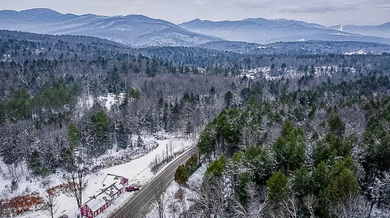 Winter wonderland in Stowe and Waterbury, Vermont.