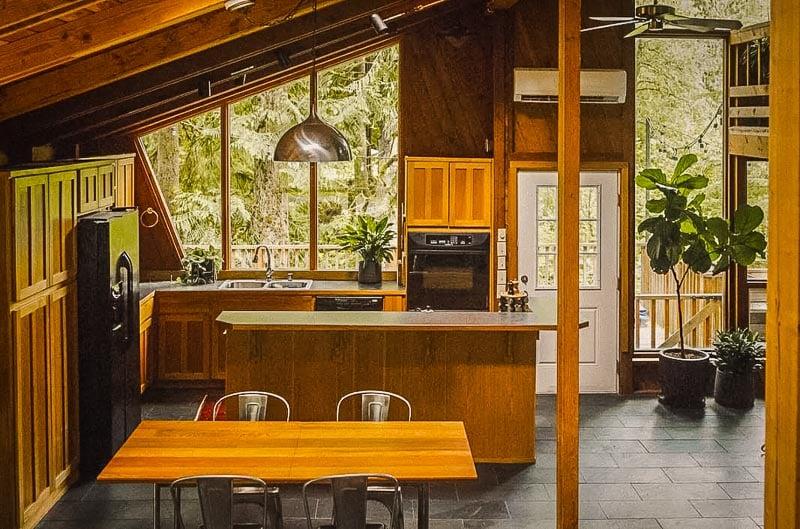 Unique asymmetrical living space