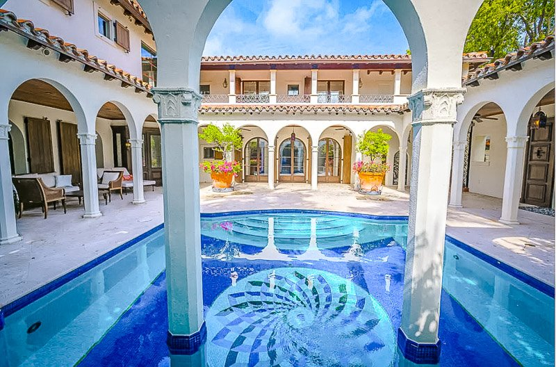 Courtyard and pool.