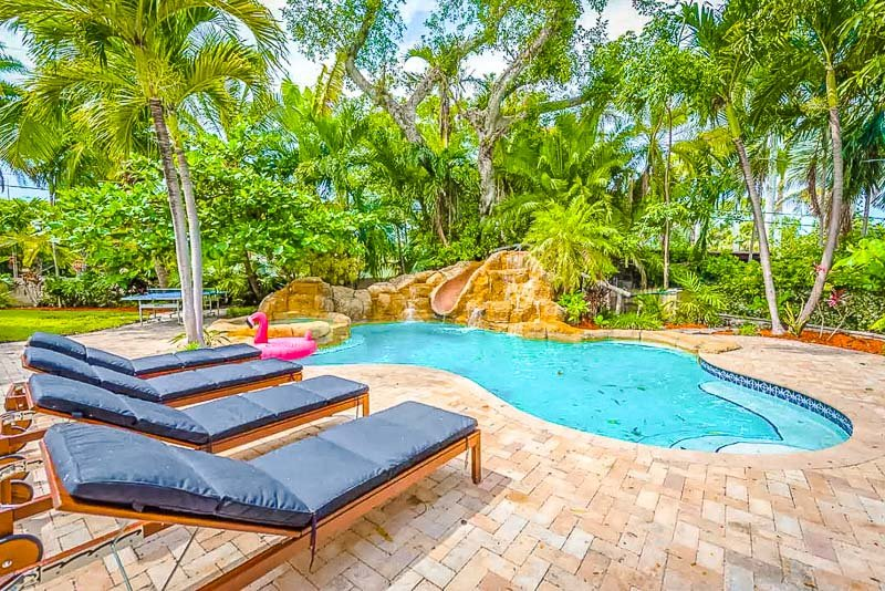 This is easily one of the top Airbnb estates in Miami with a pool.