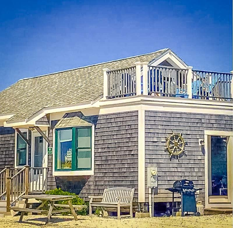 A coastal cottage vacation rental in Cape Cod.