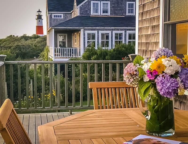 Lavish outdoor deck area