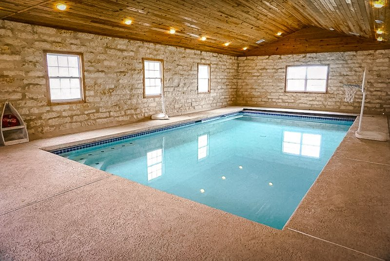Large Texas rental with a heated indoor pool.