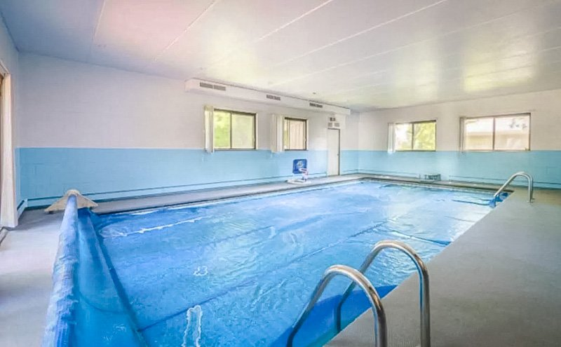 Wisconsin Airbnb rental with a large indoor pool.