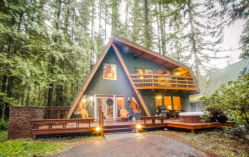 An A-Frame chalet rental in Washington State