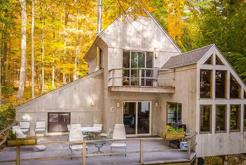 Berkshires Airbnb rental in the trees.
