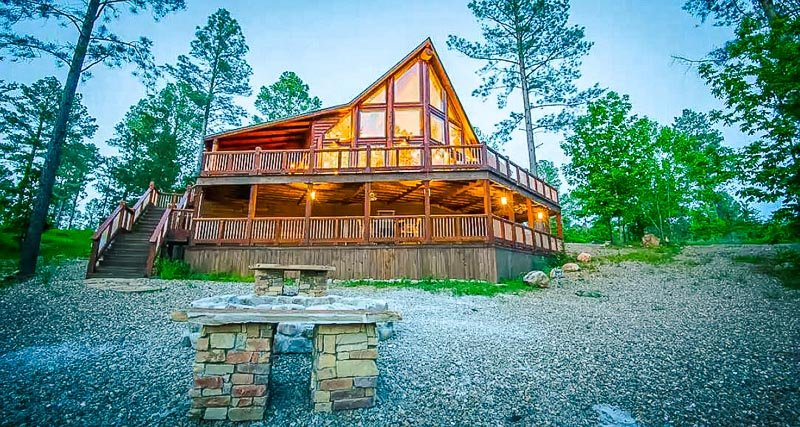 A luxury rental in the wilderness