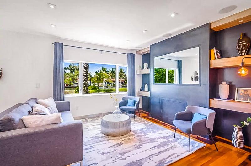 Elegant interior décor inside the Miami vacation rental