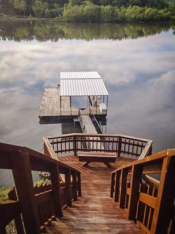 Private dock on the lake.