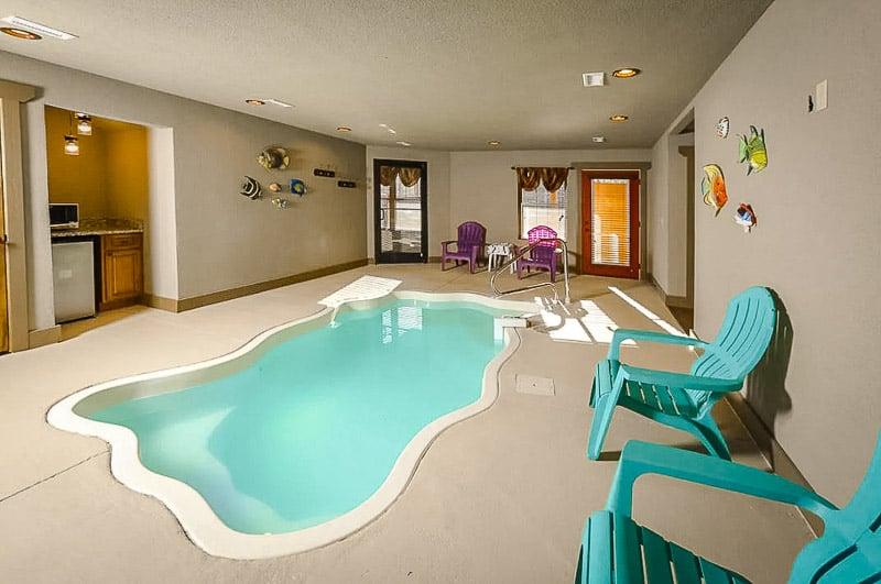 Chalet rental with indoor pool.