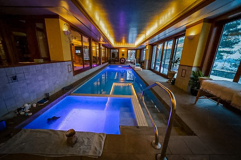 Lake home rental in MA with an indoor pool