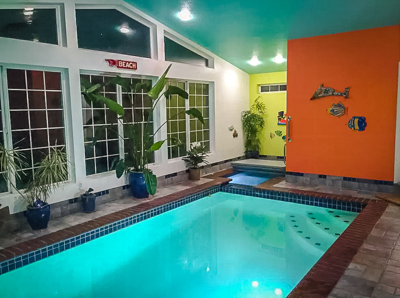 Airbnb rental in Oregon with an indoor pool.