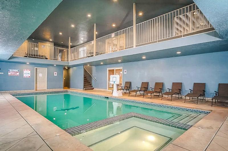 A Utah pool house with indoor pools