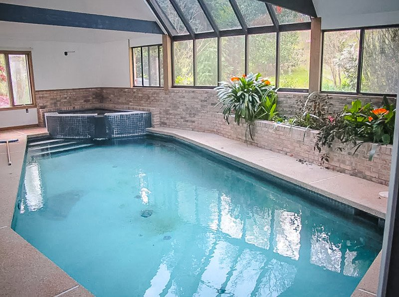 Vacation rental in MD featuring an indoor pool.